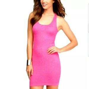 NEW Bebe Women's Neon Pink Bodycon Dress Size XXS